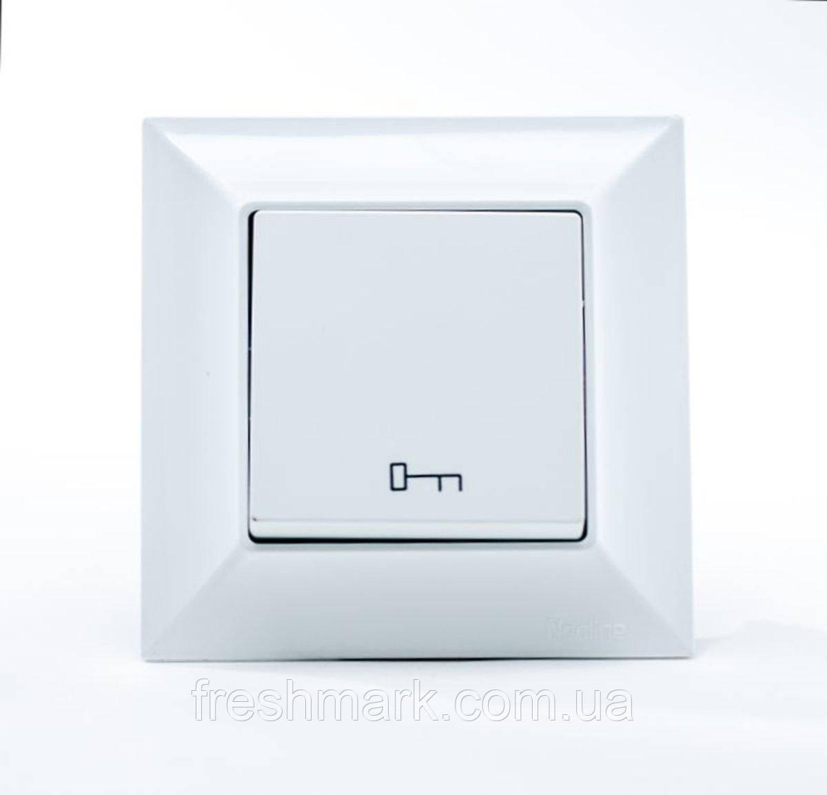 Кнопка управления замком  GUNSAN Neoline Белая