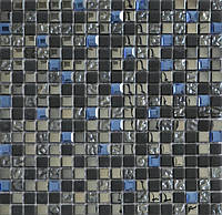 Микс из стеклянной плитки мозаики с мрамором DAF 10, фото 1