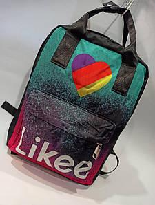 Стильный тканевый рюкзак Tik Tok Радужные шлейки Модель: 730
