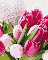 Картина по номерам Тюльпаны с любовью