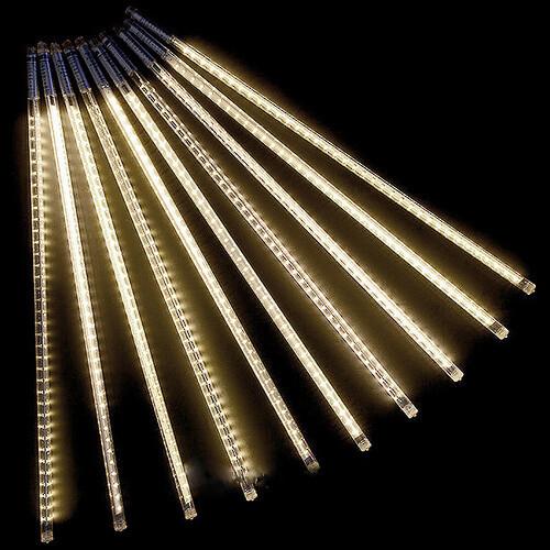 Новогодние светящиеся палочки с LED лентой, 8 шт., 3 х 0,5 м, теплые белые, стекающая капля