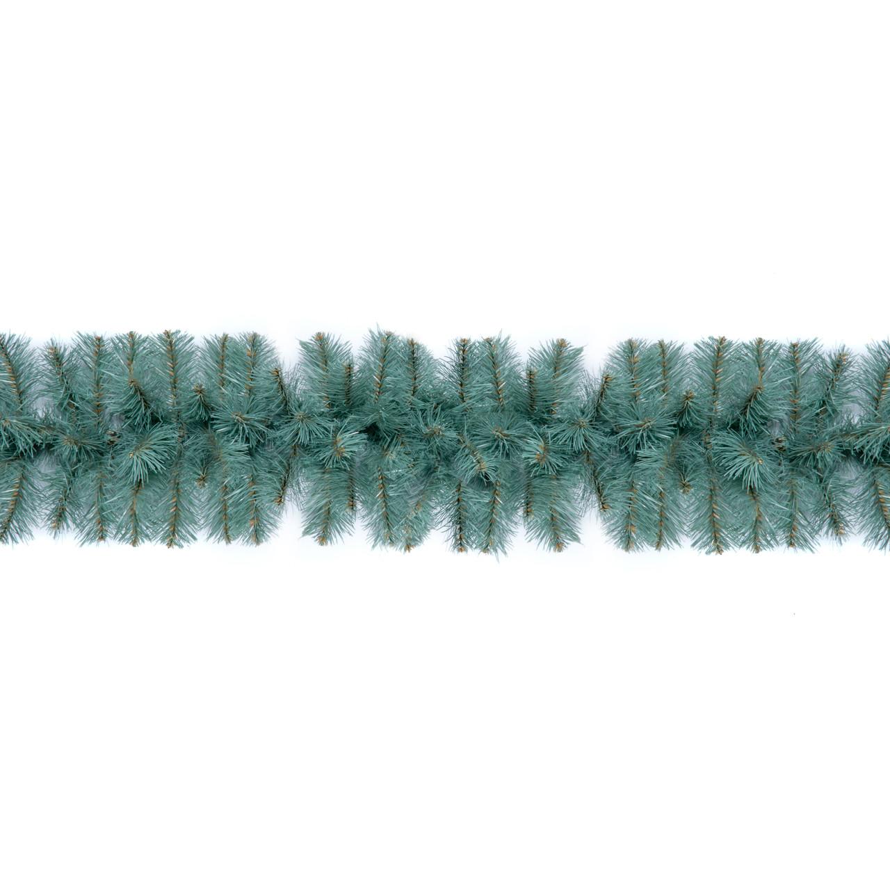 Декор хвойная гирлянда Econom голубая Ø 20 см