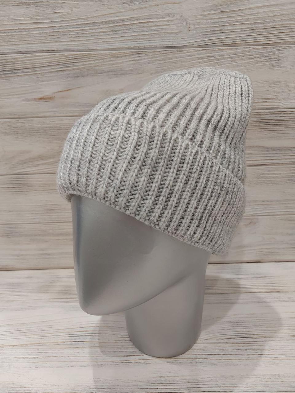 Зимова шапка лопата подвійний в'язки і на флісі 12gu304