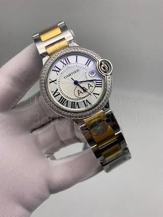 Женские наручные часы Картье Баллон Блю дэ Картье Даймонд Люкс копия, фото 2