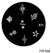 Форма для штампа Lady Victory LDV В73/FSP-058 /44-0