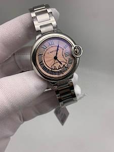 Женские наручные часы Картье Баллон Блю дэ Картье 33 мм Люкс копия