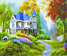 """Картина по номерам  """"Замок"""" 40*50 см, краски - акрил"""