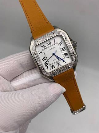 Наручные часы Картье Сантос дэ Картье Даймондс Люкс копия, фото 2