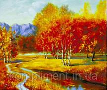 """Картина по номерам  """"Золотая осень"""" 40*50 см, краски - акрил"""