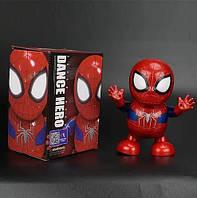 Танцующий интерактивный робот Человек Паук, интерактивная игрушка танцующий супер герой робот Spiderman