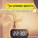 Настольные электронные часы с Bluetooth колонкой и FM радио., фото 2