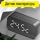 Настольные электронные часы с Bluetooth колонкой и FM радио., фото 3