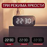 Настольные электронные часы с Bluetooth колонкой и FM радио., фото 4