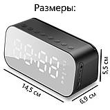 Настольные электронные часы с Bluetooth колонкой и FM радио., фото 8
