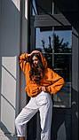 Кофта кенгуру женская Dizzy горчичная худи оранжевая, фото 3