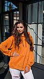 Кофта кенгуру женская Dizzy горчичная худи оранжевая, фото 4