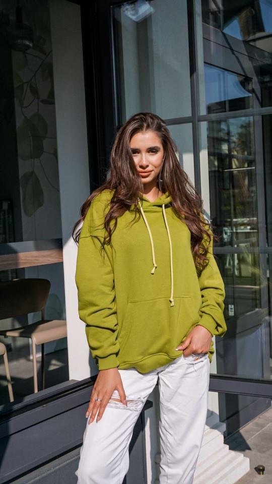 Кофта кенгуру жіноча Dizzy зеленого кольору грін худі