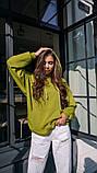 Кофта кенгуру жіноча Dizzy зеленого кольору грін худі, фото 2