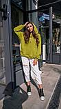 Кофта кенгуру жіноча Dizzy зеленого кольору грін худі, фото 3