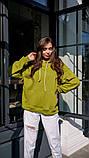 Кофта кенгуру жіноча Dizzy зеленого кольору грін худі, фото 4