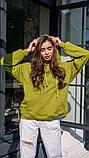 Кофта кенгуру жіноча Dizzy зеленого кольору грін худі, фото 8