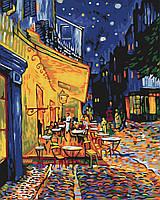 Картина по номерам 40*50 см Ночное кафе в Арле. Ван Гог