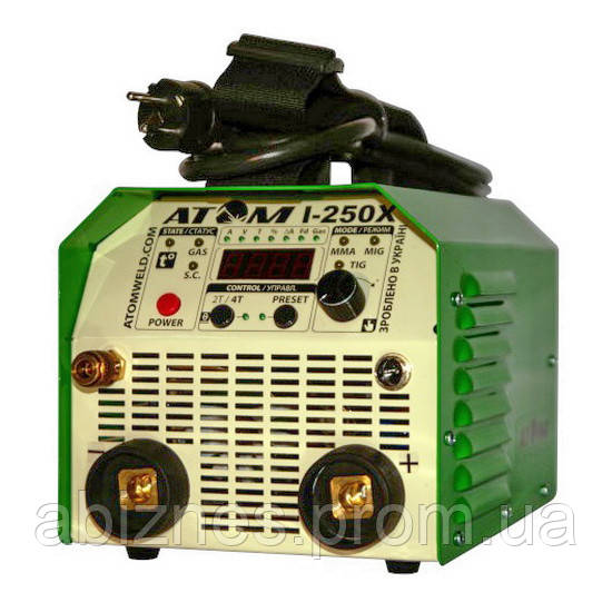 Сварочный инвертор АТОМ I-250X с комплектом сварочных кабелей КГ-25 (вариант X)