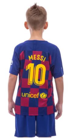 Форма футбольная детская BARSELONA MESSI домашняя 2020 co1283 р.22