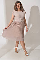 Платье нарядное трикотаж люрикс