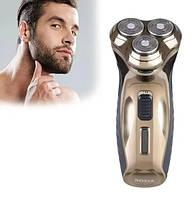 Мужская электробритва воднонепроницаемая Rozia HT-907 с встроенным аккумулятором для гладкого бритья