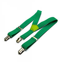 Підтяжки дитячі однотонні у 10-и кольорах. Зелений.