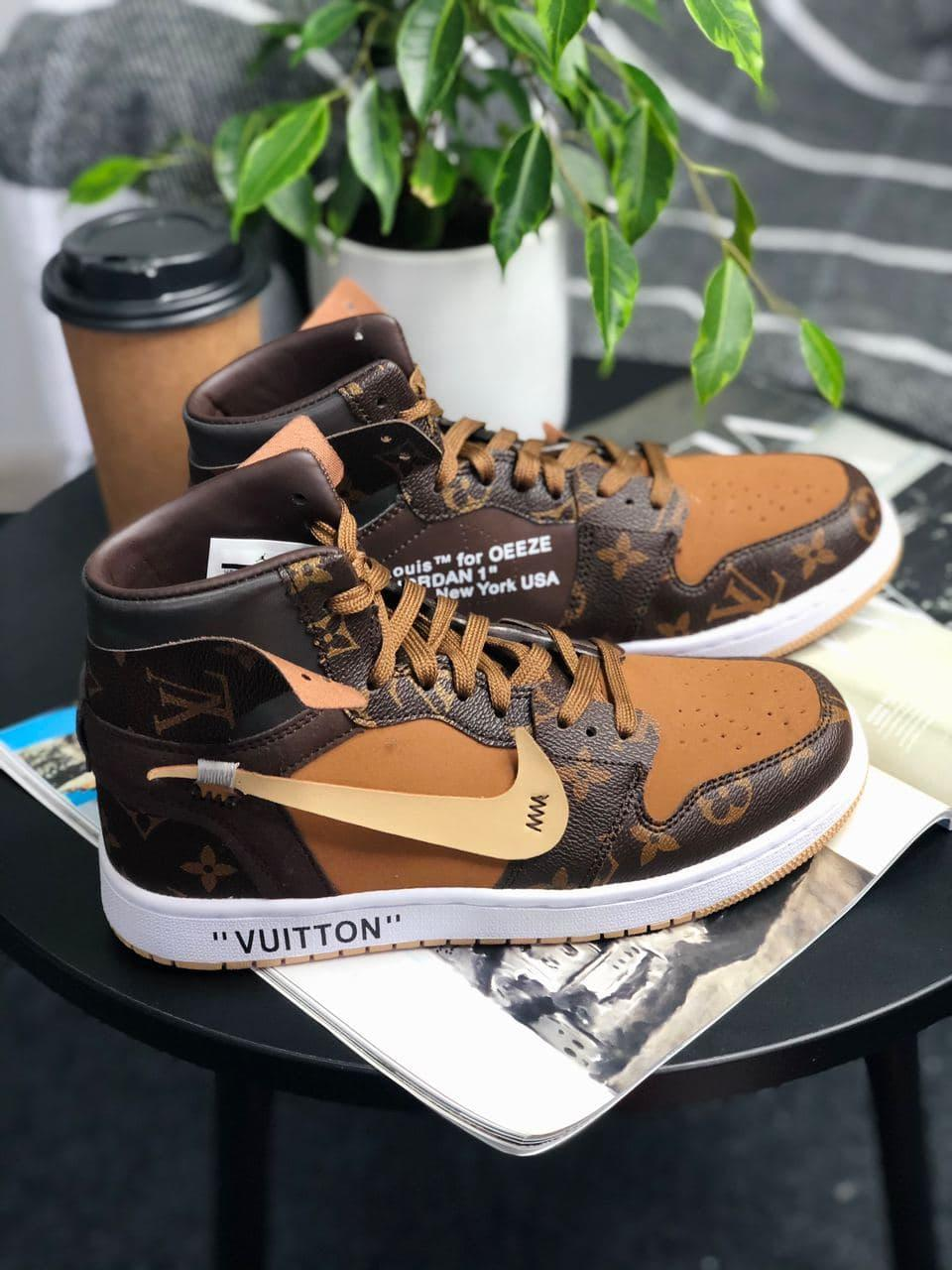 Кроссовки мужские  Air Jordan Retro High Louis Vuitton