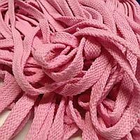 Шнур тексильный плоский, рожевий, 16мм., фото 1