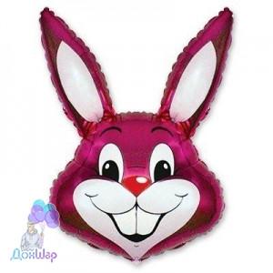 Фольгированный Шар Мини-Фигура Flexmetal 41х24 см Кролик Малиновый