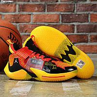 Баскетбольные кроссовки Jordan Why Not Zero0.2 'Red/Yellow' Реплика, фото 1