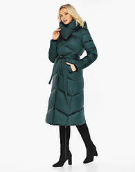 Воздуховик Braggart angel's Fluff   Куртка жіноча зимова брендовий смарагдового кольору