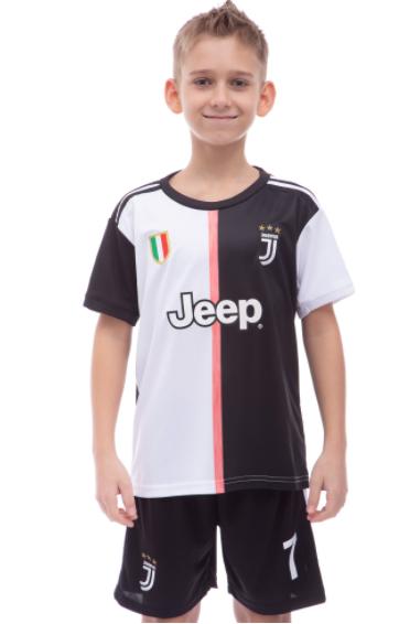 Форма футбольная детская JUVENTUS RONALDO 7 домашняя 2020 CO-1284 рост: 120-125