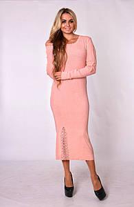 Трикотажное платье, Турция бежевого цвета (разм. 44-48)
