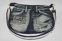 Женская сумка из джинсовой юбки , фото 1