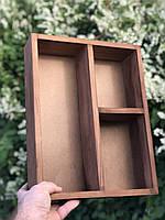 Подарочный деревянный ящик для подарков, без крышки