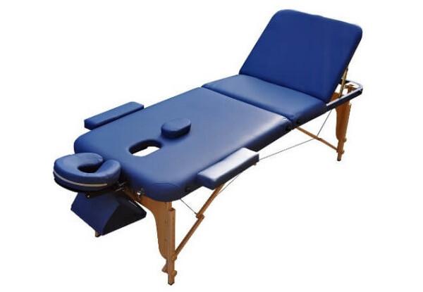 Массажный стол ZENET ZET-1047/L navy blue  3-х секционная