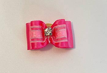 Бант для собак розовый, 3,5 см