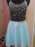 Женская юбка с эко кожи Poliit 1020, фото 1