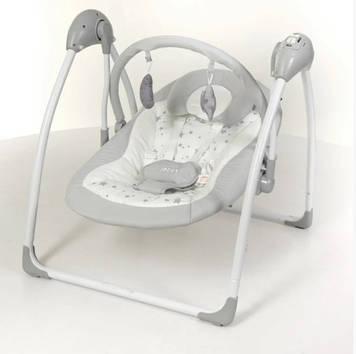Качеля-шезлонг El Camino ME 1047 Серый шезлонг для новорожденного ребенка