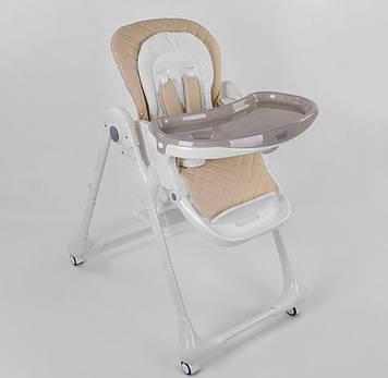 Стульчик для кормления ребенка оранжевый Удобный стульчик для кормления для ребенка от 6 мес