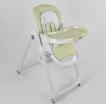 Детский стульчик для кормления ребенка,салатовый Устойчивый стульчик для прикорма для ребенка от 6 мес