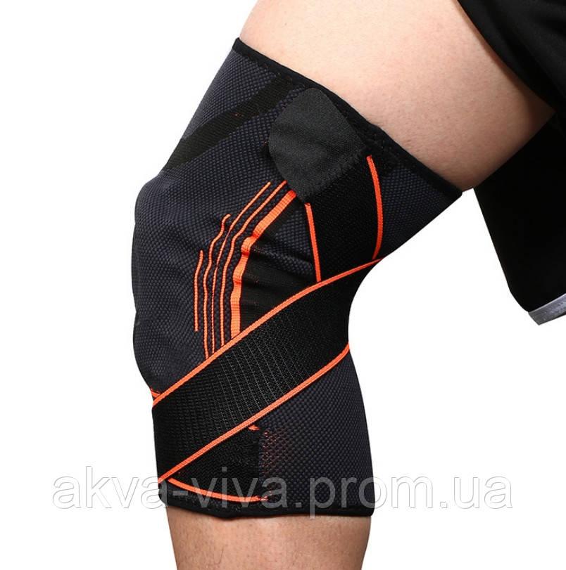 Бандаж колена с ребрами жесткости и стабилизатором (БК-07)