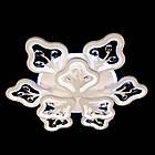 Светодиодная люстра на 9 рожков с хрустальными камнями 165 Вт с лед подсветкой и диммером D-9250/6+3WH LED, фото 2