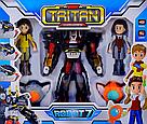 """Робот трансформер """"Тобот Тритан / Tobot Tritan"""", с героями и медальонами (свет. и звук. эффекты) , фото 2"""