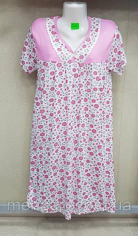 Жіноча нічна сорочка 100%бавовна, фото 2